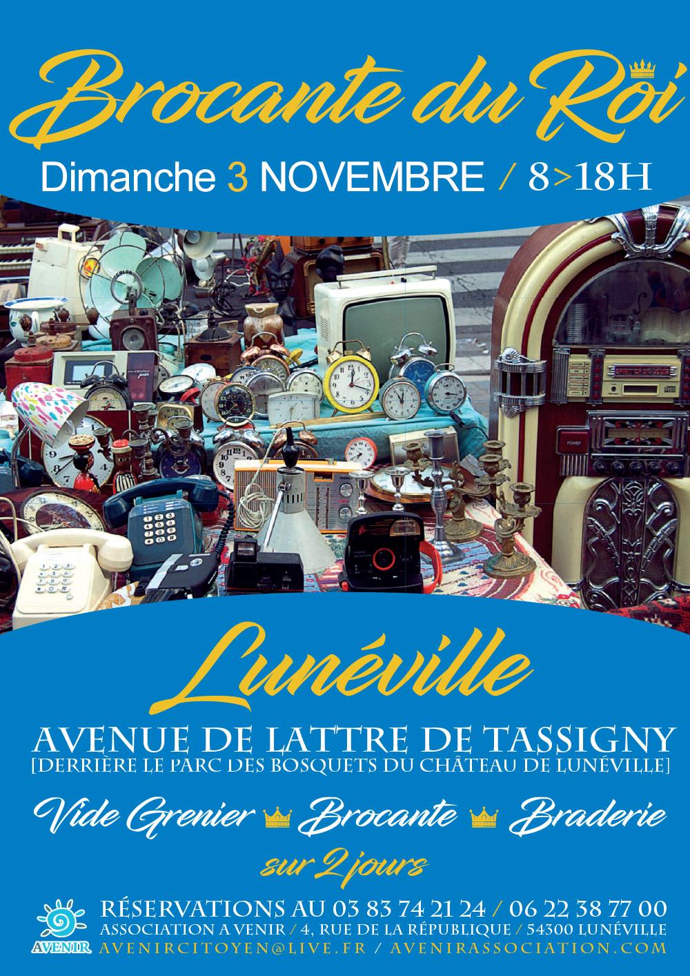 Brocante du Roi Dimanche 3 Novembre 2019 Lunéville